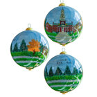 Reverse Glass Miller Library Holiday Ornament