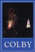 Colby Postcard Fireworks Over Mayflower Hill