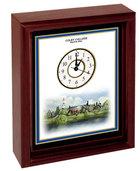 Eglomise Color Print Desk Clock - Personalizable