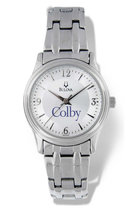 Bulova Colby Round Watch with Silver Link Bracelet for Women
