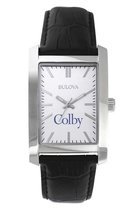 Bulova Colby Square Watch with Leather Strap for Women