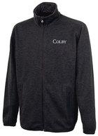 Charles River Heathered Sweater Fleece Full Zip Jacket