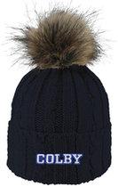LF Beanie Cable Faux Fur Pom WH (Alps) (CVit)
