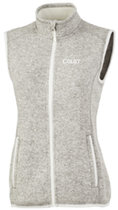 Charles River Heathered Sweater Vest for Women
