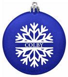 Jardine Shatterproof Colby Holiday Snowflake Ornament