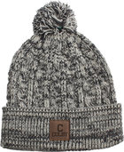 Ahead Colby C Heathered Knit Beanie with Cuff and Pom