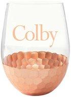 Neil Copper Petal Stemless Wine Glass LIG
