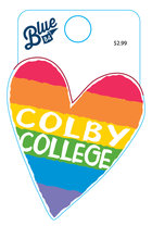 Blue84 Colby College Rainbow Heart Mini Decal