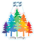 Blue84 Colby College Rainbow Pines Decal